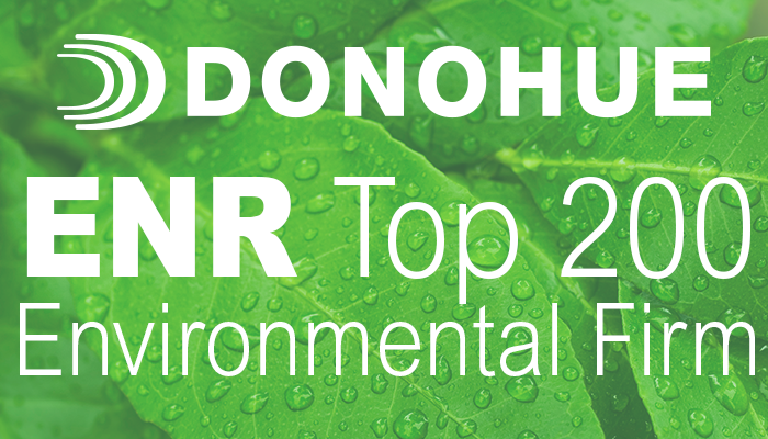 Donohue in Top 200 Environmental Firm List Header Image