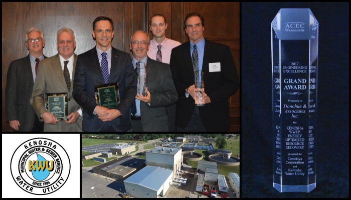 Kenosha Water Utility's Energy Optimized Resource Recovery Project Receives Top Engineering Excellence Award in Wisconsin Thumbnail